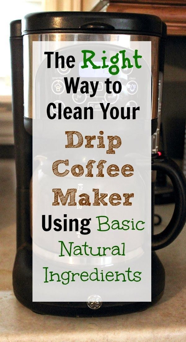 How to clean out your drip coffee maker at home using all simple ingredients you already have on hand.