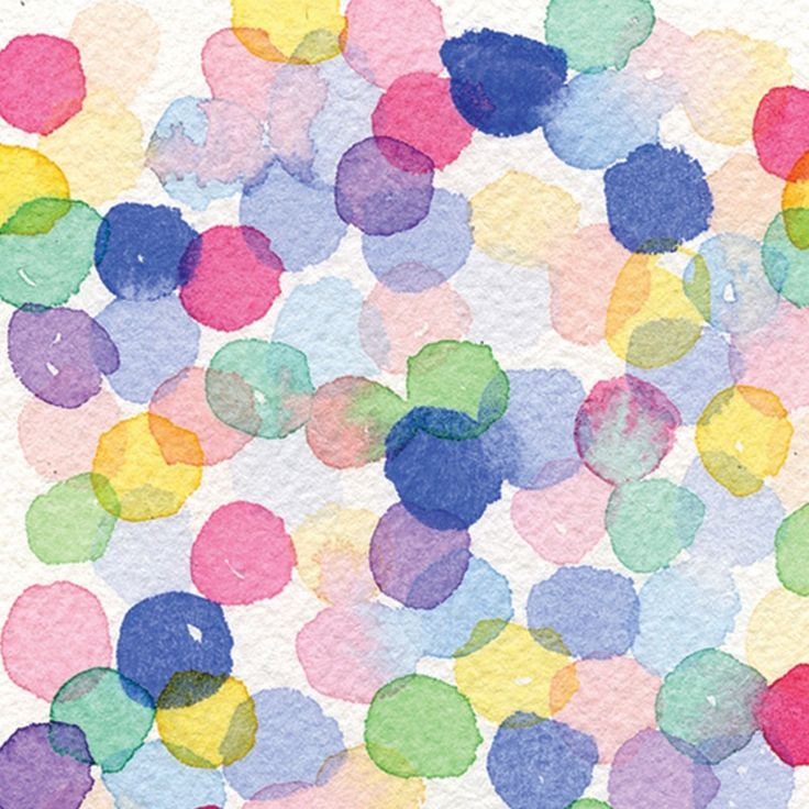 watercolor pattern dots multi by Wellmade Design Co.