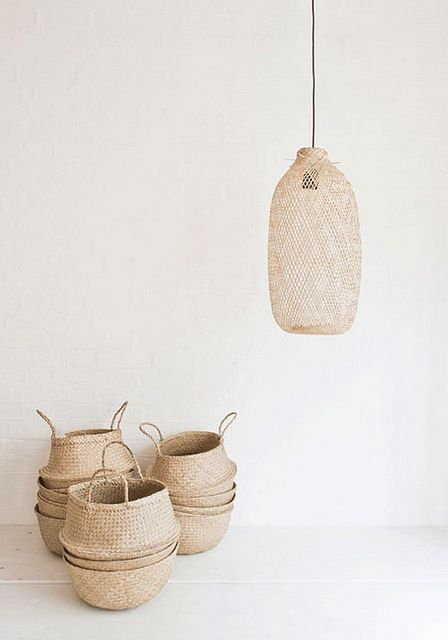 Bloomingville baskets and lamp