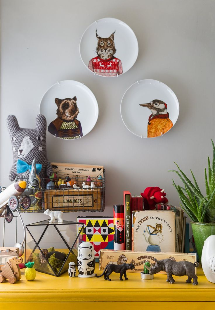 colorful kids' room vignette