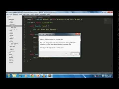Codeigniter tutorial for beginners