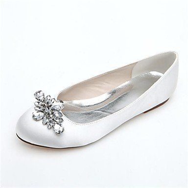 Dew Damenschuhe runde Kappe flacher Absatz Satin Wohnungen mit Strass Hochzeit Schuhe weitere Farben erhältlich - http://on-line-kaufen.de/dew-schuh-2/dew-damenschuhe-runde-kappe-flacher-absatz-satin