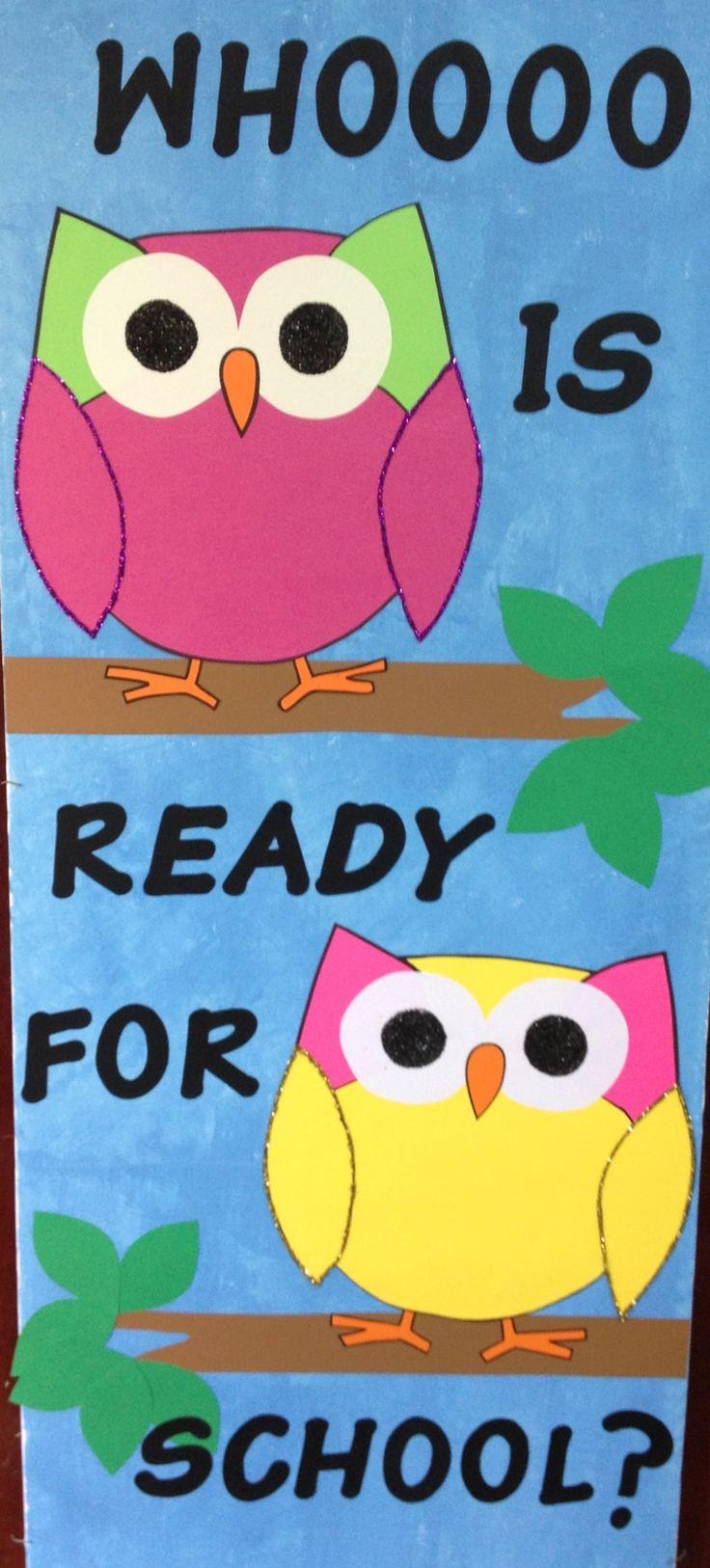 Class door owl Classroom