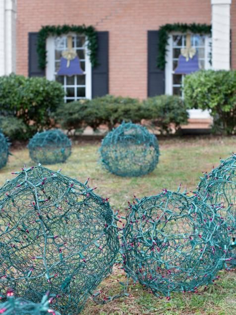 Giant Christmas lights balks for the yard.