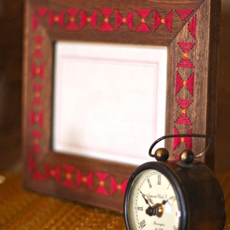 #threadwork #photoframe #timepiece #wood #vibrant #summer #home #lifestyle #decor #accessories #Fabindia
