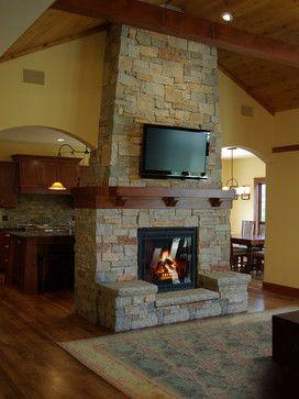 Siehe Durch Kamin, Innenkamine, Kamine, Doppelseitigen Kamin, Holzdecken,  Traditionelle Wohnzimmer, Tv Above Fireplace, Mantle Ideas, Fireplace Ideas