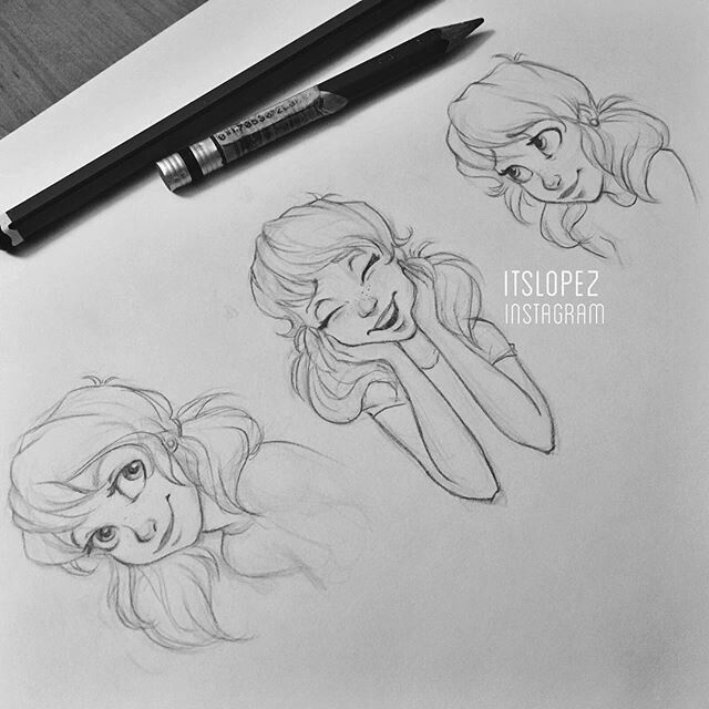 by Laia Lopez . Character Sketch / Drawing
