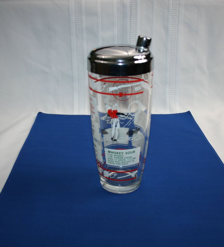 Vintage Cocktail Shaker Sportsman Series Large 30 ounce by