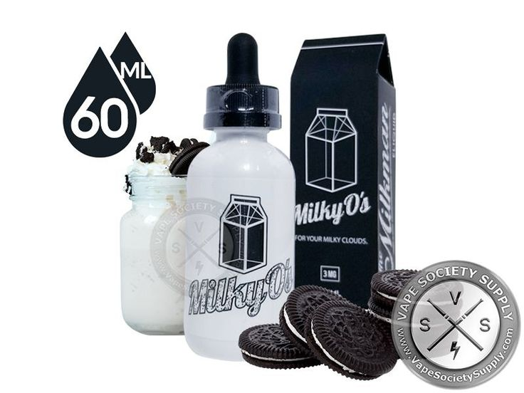 Milky O's ejuice by the Milkman 60ml is the third flavor of your favorite sandwiched chocolate cream cookie dunked in milk, Use promo code ejuice to save 20% #creamflavor #DessertFlavor #ejuice
