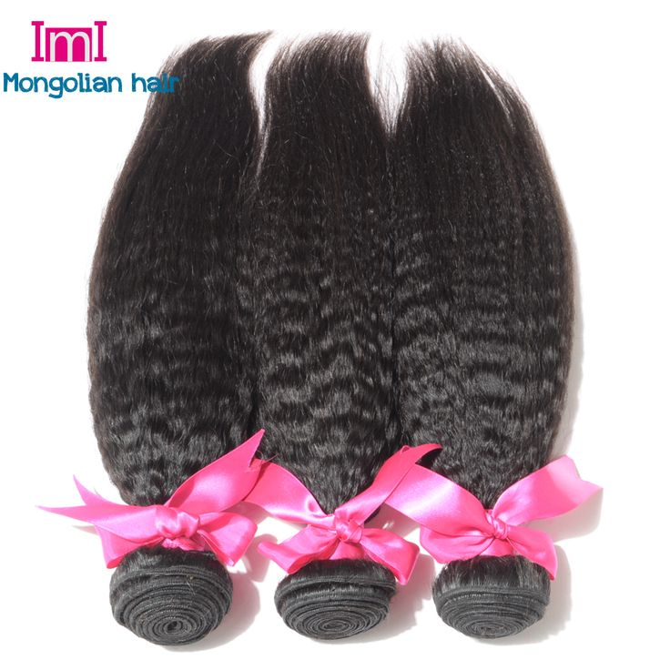 Aliexpress.com : Buy 7A Mongolian Kinky Straight Hair Mongolian Virgin Human Hair Kinky Straight Hair, Mongolian Kinky Straight Hair Weave In Stock from Reliable hair donut suppliers on IMI Hair Products Co.,Ltd