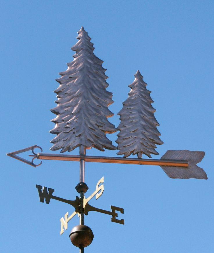 Tree Weather Vane Pine Double by West Coast Weathrvanes