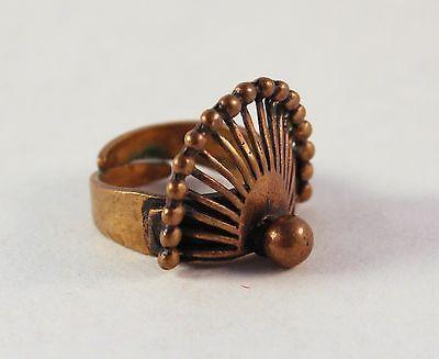 Pentti Sarpaneva for Turun Hopea ~Vintage, modernist bronze ring.