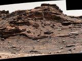 """The top of the butte in this Sept. 1, 2016, scene from the Mast Camera (Mastcam) on NASA's Curiosity Mars rover stands about 16 feet above the rover and about 82 feet east-southeast of the rover. The site is in the """"Murray Buttes"""" area of lower Mount Sharp, and this particular butte is called """"M9a."""""""