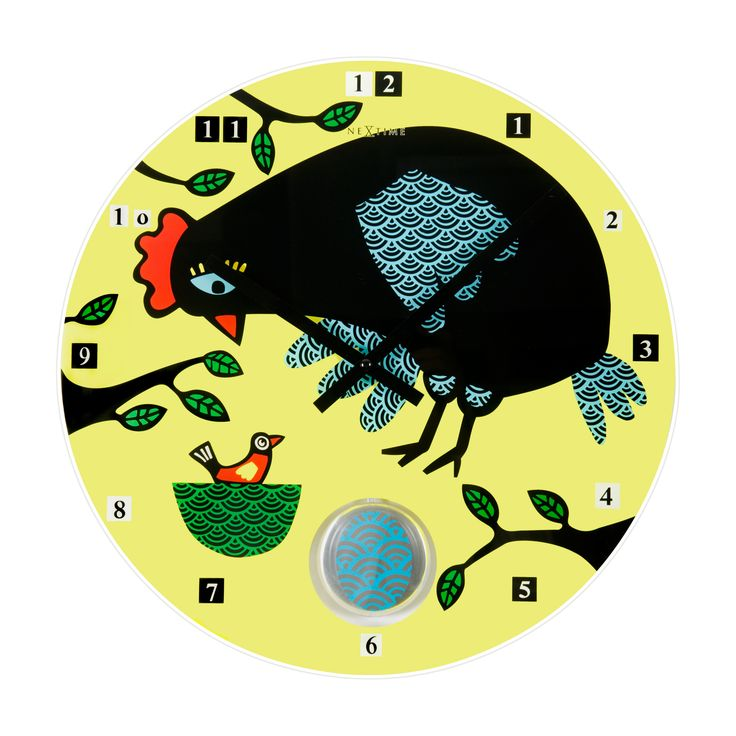 Zegar ścienny La Poule - NEXTIME - DECO Salon. Interesting clock that will check both in the nursery and in the unusually decorated lounge, and also the kitchen. #giftidea #forhome #forkids #dladzieci #clock