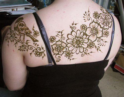 Floral Henna Design for Backside