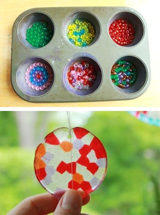 For when the grandkids are older. DIY Sun Catchers -- 29 fun crafts for kids…