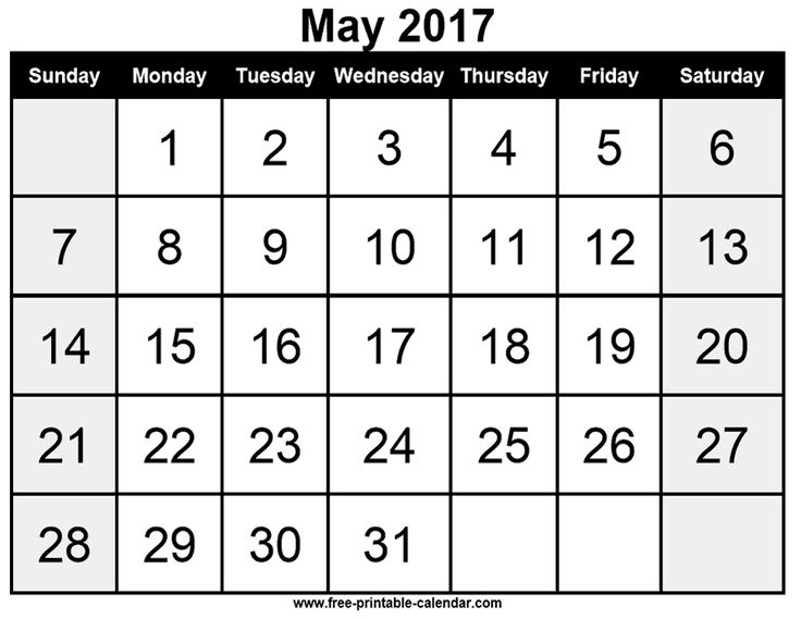 Printable Calendar May 2017 229 best free printable 2017 calendars images on pinterest | free