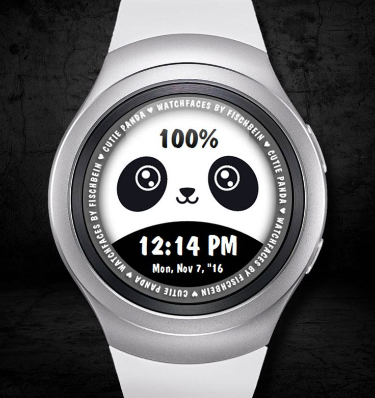 Cutie Panda 12h – Watchfaces by Fischbein