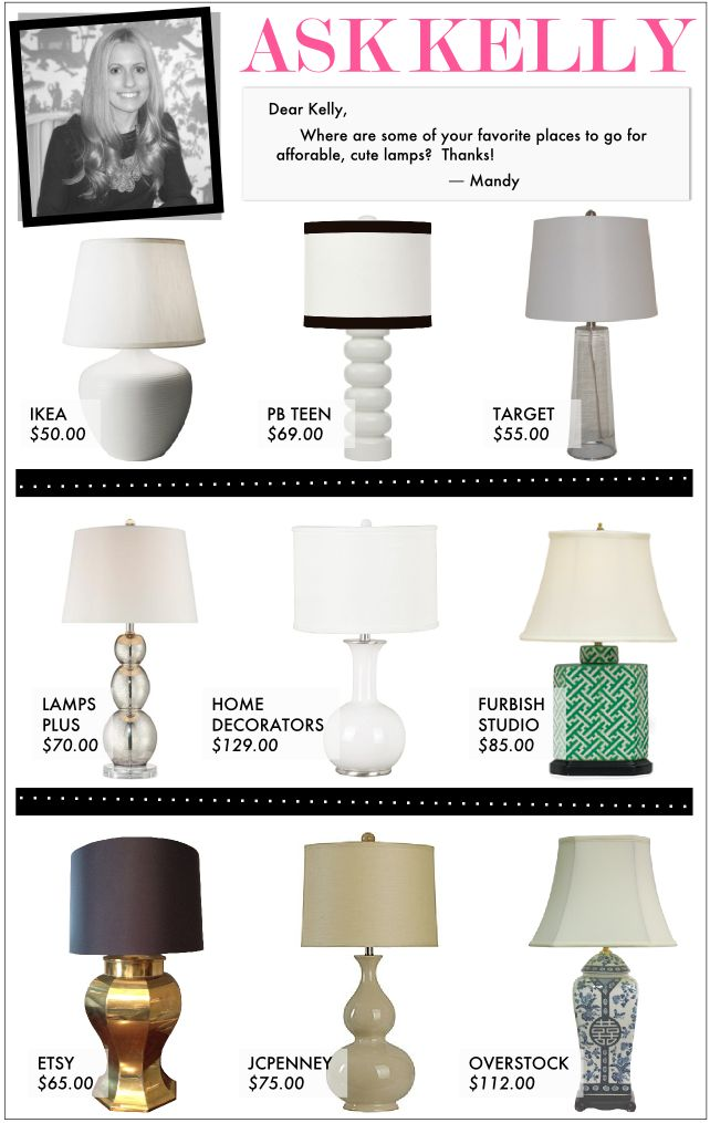 Affordable table lamps