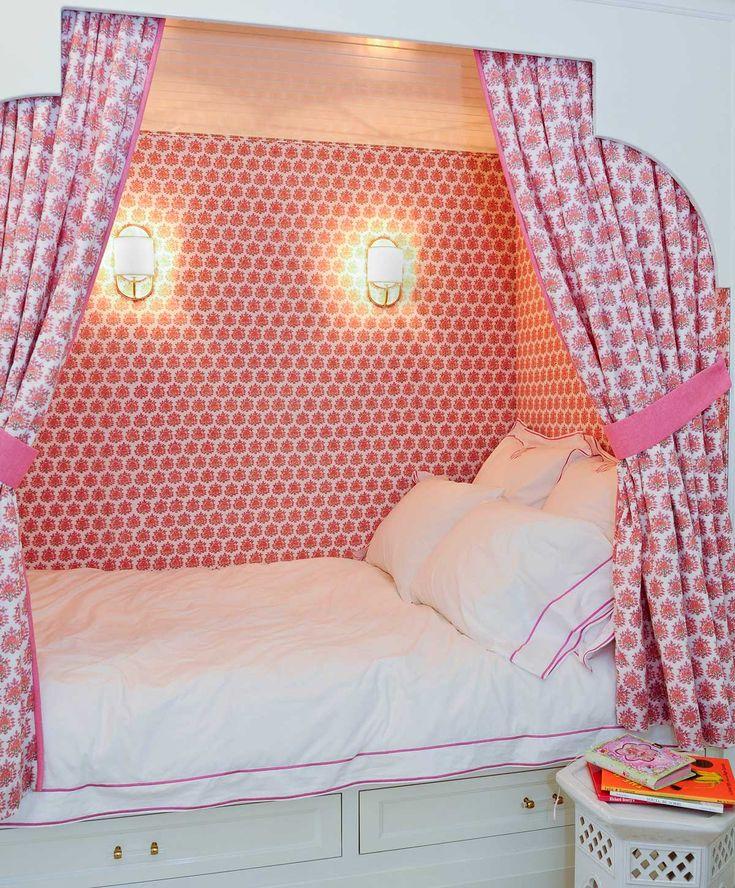 Girls Bedroom Black Furniture Bedroom Built In Bookshelves Vintage Floral Wallpaper Bedroom Gray Bedroom Bench: 17 Best Ideas About Built In Bed On Pinterest