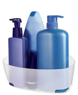 Command™ Shower Corner Caddy is a great space saver - need for kids bath to keep soap with in their reach