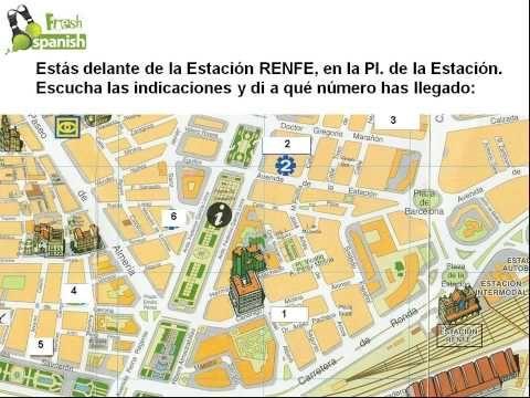 Dar Indicaciones (en la calle) - Learn Spanish with Fresh Spanish - YouTube
