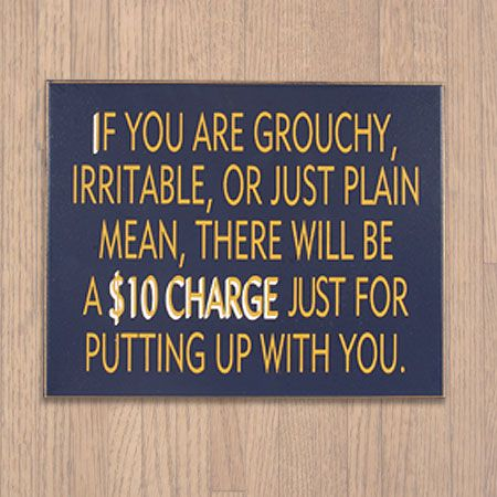 Plain Grouchy Wooden Sign, Funny Novelty Home Decor, Gag Business Wall Plaque