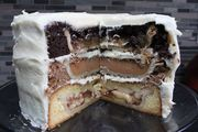 I couldn't help myself. The moment I saw the photos of the Cherpumple, a crazy Frankenstein's Monster dessert made up of whole pies baked into layers of cake dreamed up by kitschy comedian Charles Phoenix, I needed to put my...