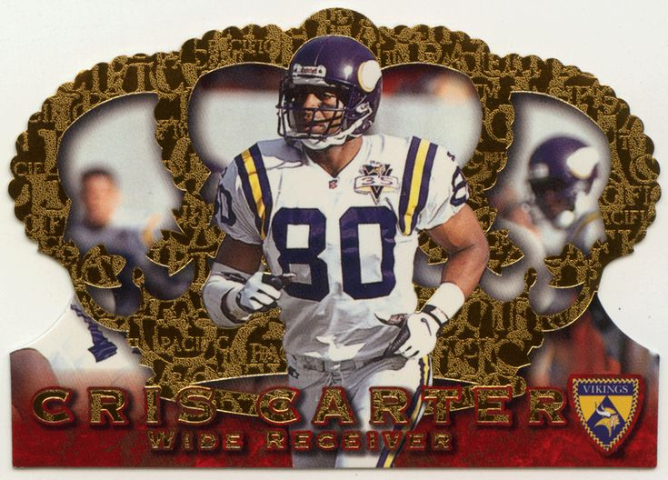 Cris Carter # 90 - 1996 Pacific Crown Royale Football