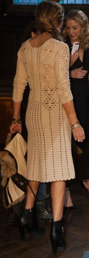 crochet dress - back (In New York Fashion Week Fall+2014)