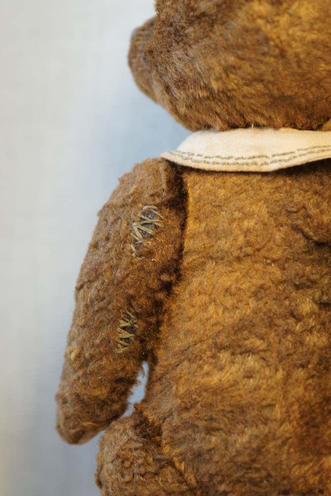 Old vintage teddy bear by Hypatia. Заплаткин. Старенький мишка с опилками.   Гипатия.