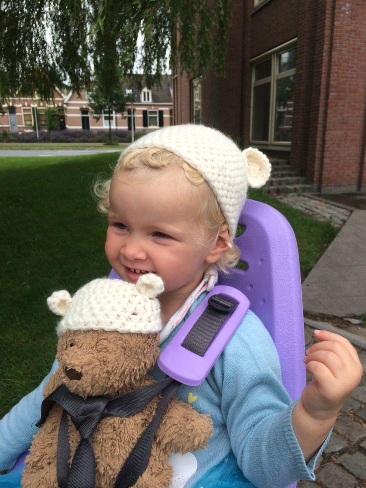 Crochet hat bear & me