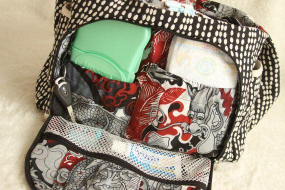 Designer Diaper Bag Pattern DIGITAL DOWNLOAD .pdf by tenderfeat