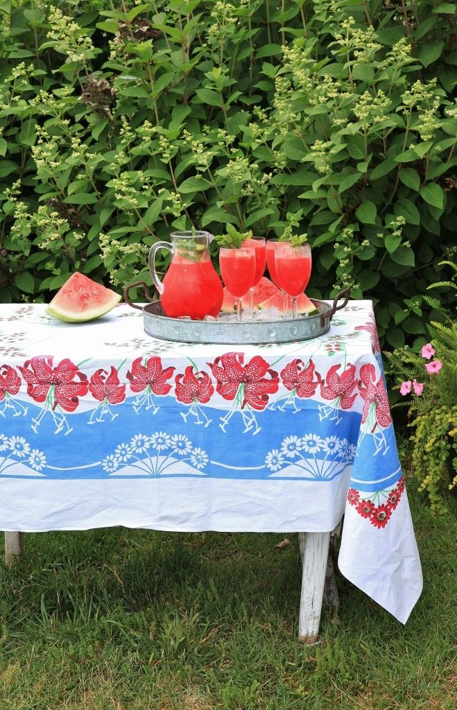 Rattlebridge Farm: Garden Week Wrap-Up with recipe  for Minty Watermelon Lemonade, perfect for a summer day!