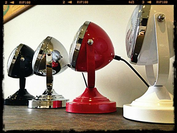 This holy funk retro head light desk lamp brings out the car loving qualities in