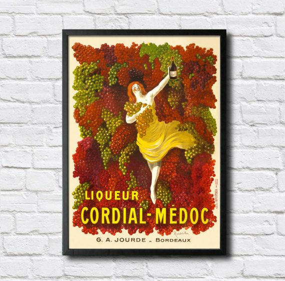 Cordinal-Medoc Vintage Poster  Digital HQ by PlakaticoPosters