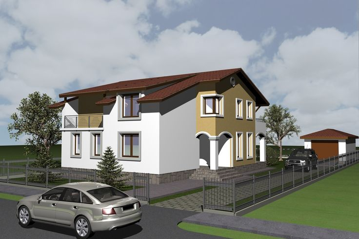 House design and 3d Elevations. 263 square meters 2830 sq. feet