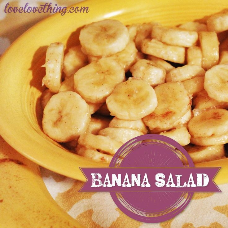 Fast, easy, and DELICIOUS banana salad. Takes just a few minutes. This doesn't sound impressive,but wow!