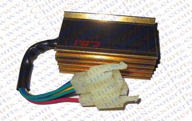 Racing 6 Pin two Squre Plug AC CDI Ignition Box 125CC 150CC 200CC 250CC Pit Dirt Bike ATV Quad Parts