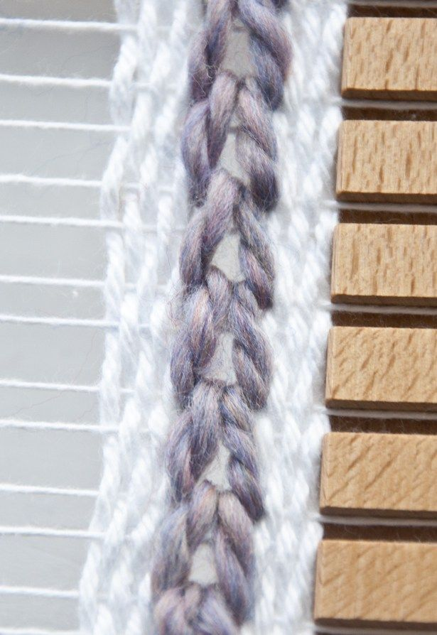Use soumak weave to create a chain look on your weave.