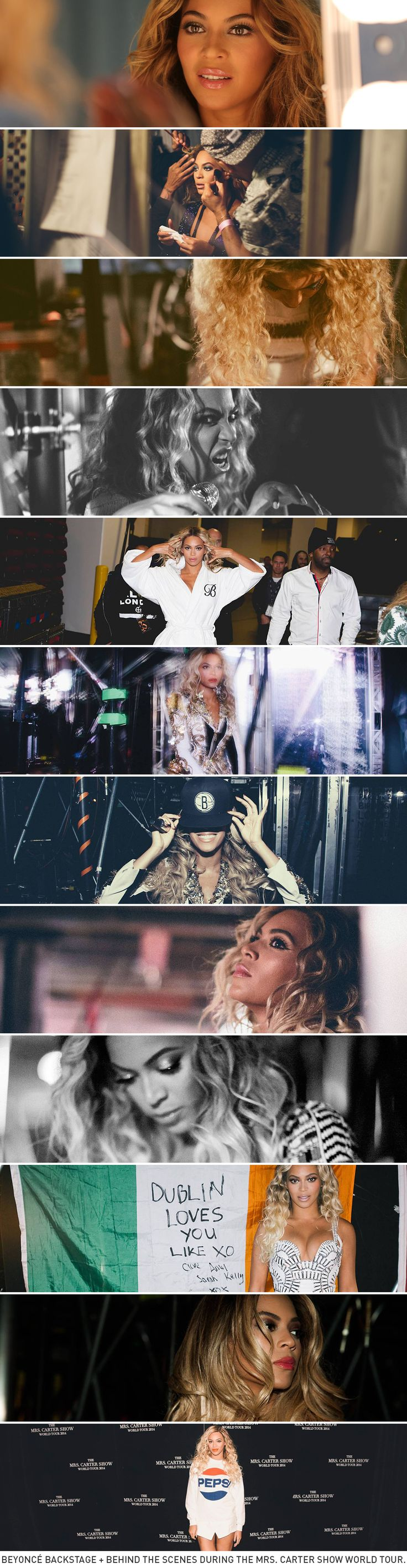 Beyoncé Backstage Memories at the Mrs Carter Show World Tour 2013/14
