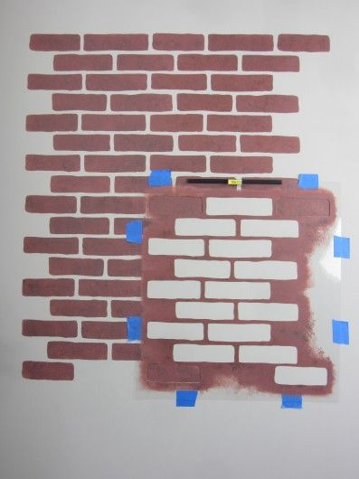 Learn How To Stencil The Brick Allover Pattern Video Tutorials Pinterest Stencils Fake Wall And