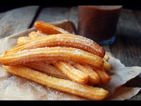 receta de churros españoles inmejorable,,,harina agua y sal tradicional - YouTube