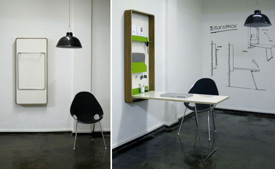 Boxoffice: Wall mounted workstation is a boon for cramped spaces