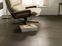 Baldosa de suelo / de gres porcelánico / pulida / aspecto piedra