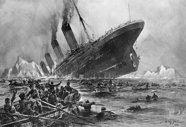titanic | An artist s impression of the Titanic Sinking. Image from commons ...
