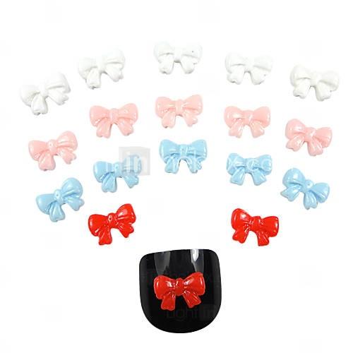 Bow Tie Nail Art | 20PCS Crystal Acrylic Bow Tie Nail Art Decorations - USD $ 2.99