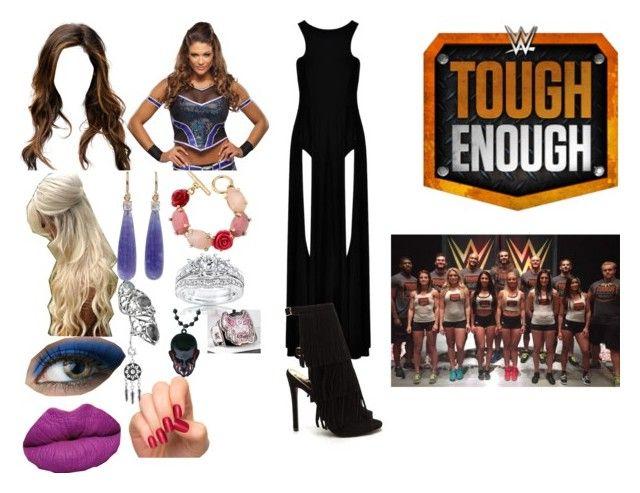 Jessie Balor a coach on WWE Tough Enough Season 6 by anaeve on Polyvore featuring Oscar de la Renta, Kobelli, Irene Neuwirth, WWE, Stephen Webster and Incoco