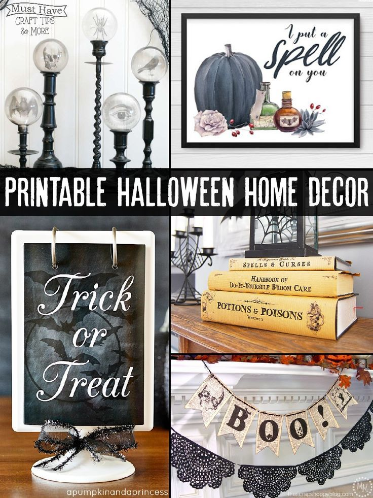Home Decor Halloween Printables Halloween Decor Pinterest - pinterest halloween decor ideas