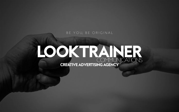 The new business advertising.At first, the importance to be personal, to be unique. Looktrainer - creative advertising agency. www.looktrainer.comReady soon. #BeYouBeOriginal